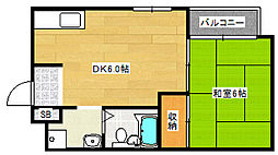 ウエストンB.L.D[2階]の間取り