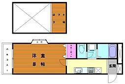 ルート多々良II[2階]の間取り