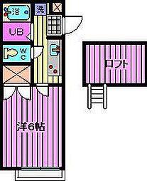 南浦和ヒルズI・II[1階]の間取り