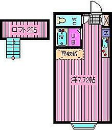 メゾンオランジュ[2階]の間取り