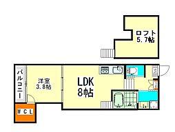 トレノハウス[1階]の間取り