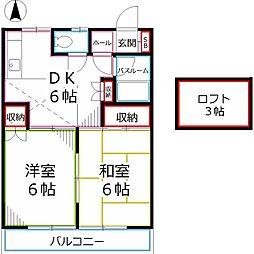 東京都国分寺市本多3丁目の賃貸アパートの間取り