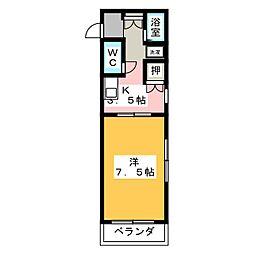 レジデンス本山[3階]の間取り