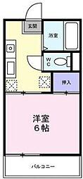 千葉県千葉市花見川区幕張本郷6丁目の賃貸アパートの間取り