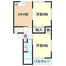 メゾンドケイIII[2階]の間取り