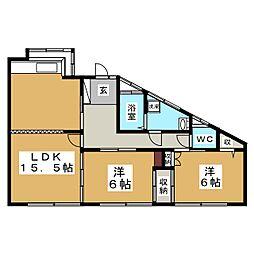 ホワイトファミール高和[1階]の間取り