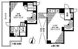 FLEG目黒平町[14号室]の間取り