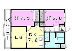 ブライム モア[102 号室号室]の間取り