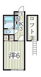 イーストアベニュー[2階]の間取り