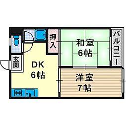 芥川マンション[3階]の間取り