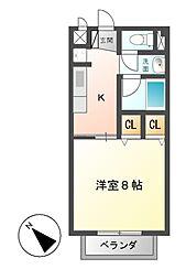 CORPOオリエンタルA ・ B[2階]の間取り