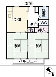 岡戸 アーバンハイツ[2階]の間取り