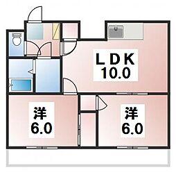 スタービレッジ新松戸[2階]の間取り