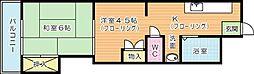 アーバンタイム三郎丸[1階]の間取り