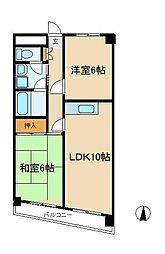 千葉県松戸市新松戸4丁目の賃貸マンションの間取り