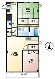 シティハイツキムラ[2階]の間取り