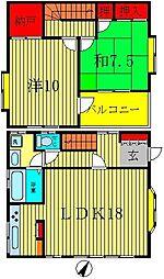 [一戸建] 千葉県松戸市古ヶ崎2丁目 の賃貸【/】の間取り