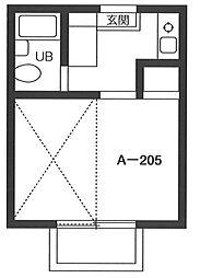ピークハイムA[2階]の間取り