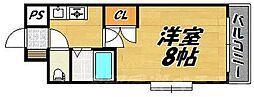 福岡県北九州市小倉北区下到津3丁目の賃貸マンションの間取り