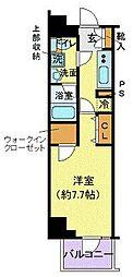 デュアレス千代田三崎町 8階1Kの間取り