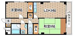 兵庫県神戸市長田区大橋町10丁目の賃貸マンションの間取り