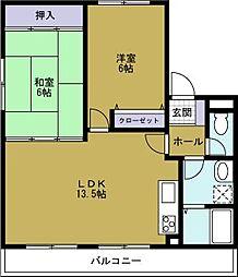 第3山菱マンション[4階]の間取り