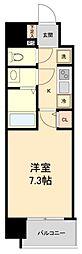 仙台市営南北線 広瀬通駅 徒歩4分の賃貸マンション 4階1Kの間取り
