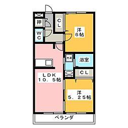 D'room京命[3階]の間取り