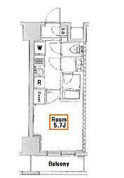 スパシエジーベック亀戸[8階]の間取り