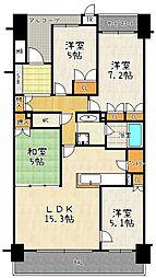 大津京ステーションプレイス[3階]の間取り