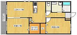 PROUD II[2階]の間取り