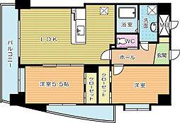 コンプレート富士見(特定優良賃貸住宅)[5階]の間取り