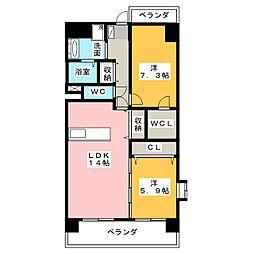 アヴェニール N棟[3階]の間取り