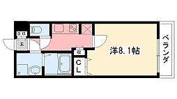 AMARE甲東園[203号室]の間取り