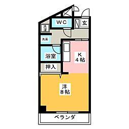 パークサイド幹[3階]の間取り
