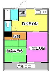 岩崎コーポ[2階]の間取り