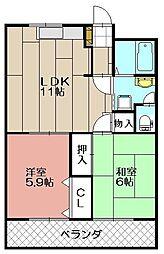 メゾン坂本[106号室]の間取り