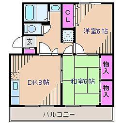 神奈川県横浜市港北区大倉山4丁目の賃貸マンションの間取り