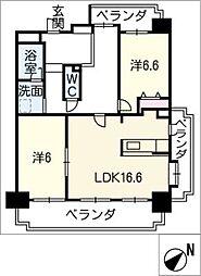 グローリアス徳重 302号室[3階]の間取り