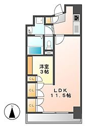 コージィーコート新栄[8階]の間取り
