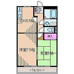 神奈川県横浜市神奈川区神之木町の賃貸マンションの間取り