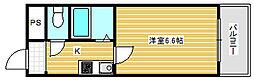 ルミナス恵美須[4階]の間取り
