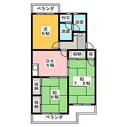 ガーデン緑ヶ丘[2階]の間取り