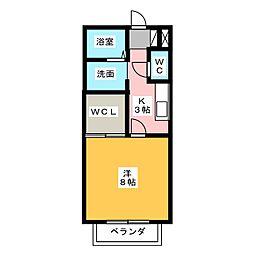 サン・friendsP1桜井[1階]の間取り