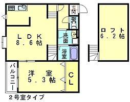 ポラリス新宮2[1階]の間取り