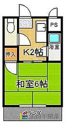 第12上野ビル[201号室]の間取り