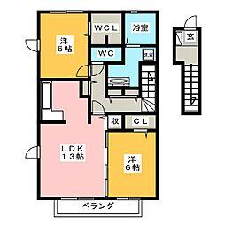 セジュールSRA[2階]の間取り