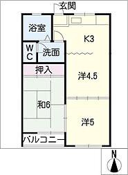 豊島コーポ[2階]の間取り