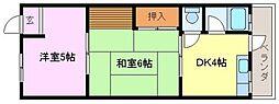 ハイツ尾井[2階]の間取り
