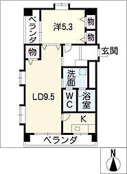 桜台マンション[3階]の間取り